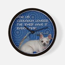 Chihuahua Eyes Wall Clock