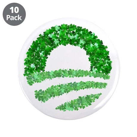 "Obama Irish St. Patrick's Day 3.5"" Button (10"