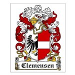 Clemensen Coat of Arms Small Poster