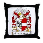 Clemensen Coat of Arms Throw Pillow