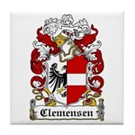 Clemensen Coat of Arms Tile Coaster