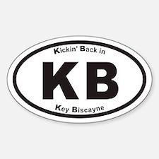 Kickin Back In Key Biscayne KB Euro Oval Decal