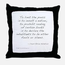 Helvetius on Books Throw Pillow