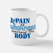 Pain is weakness cross Mug