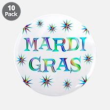 "Mardi Gras 3.5"" Button (10 pack)"