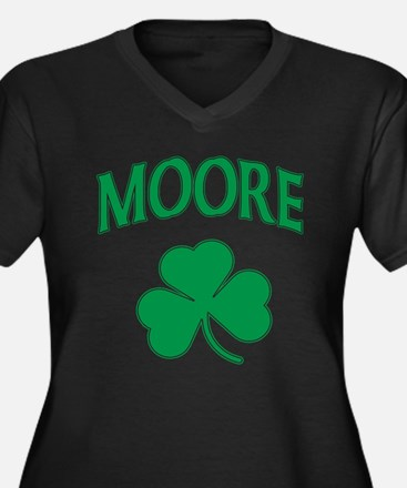 Moore Irish Women's Plus Size V-Neck Dark T-Shirt