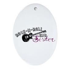 Rock-n-Roll Big Sister Oval Ornament