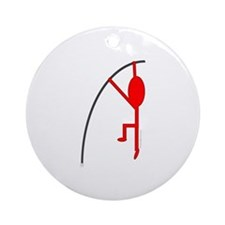 Red Pole Vaulter Ornament (Round)