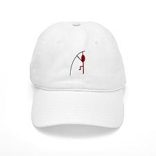 Maroon Pole Vaulter Baseball Cap