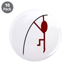 "Maroon Pole Vaulter 3.5"" Button (10 pack)"