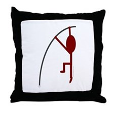 Maroon Pole Vaulter Throw Pillow