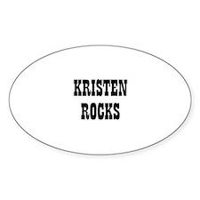 KRISTEN ROCKS Oval Decal