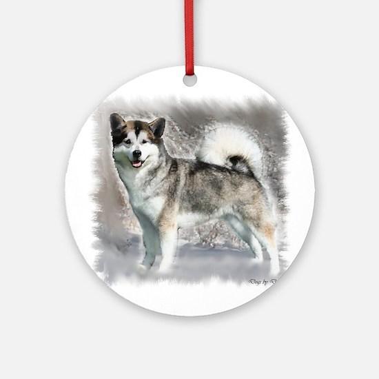 Alaskan Malamute Art Ornament (Round)