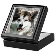Alaskan Malamute Art Keepsake Box