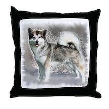 Alaskan Malamute Art Throw Pillow