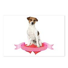 Jack Russell Terrier Valentine Postcards (Package