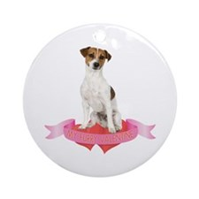 Jack Russell Terrier Valentine Ornament (Round)