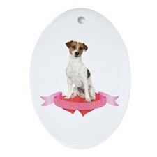 Jack Russell Terrier Valentine Ornament (Oval)