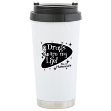 Drugs are my life Thermos Mug