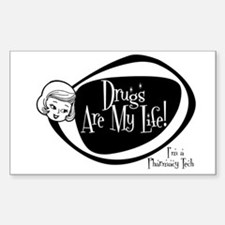 Girlie Pharmacy Tech Rectangle Decal