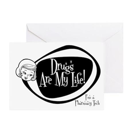 Girlie Pharmacy Tech Greeting Card