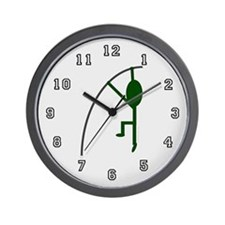 Forest Pole Vaulter Wall Clock