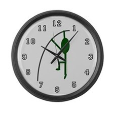 Funny Polevaulter Large Wall Clock