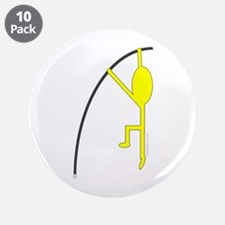 """Yellow Pole Vaulter 3.5"""" Button (10 pack)"""