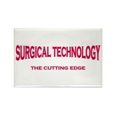 Surgical Technology - pink/red Rectangle Magnet
