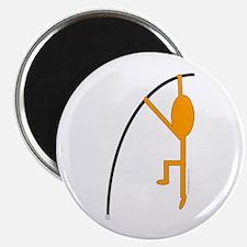 Orange Pole Vaulter Magnet
