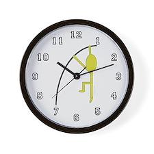 Gold Pole Vaulter Wall Clock