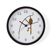 Brown Pole Vaulter Wall Clock