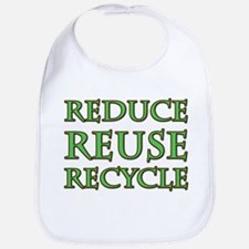 RRR Recycle Saying Bib