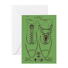 Shoe lacing patent Greeting Card