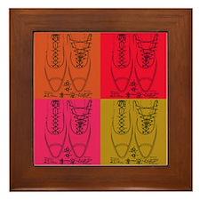 Shoe lacing patent Framed Tile