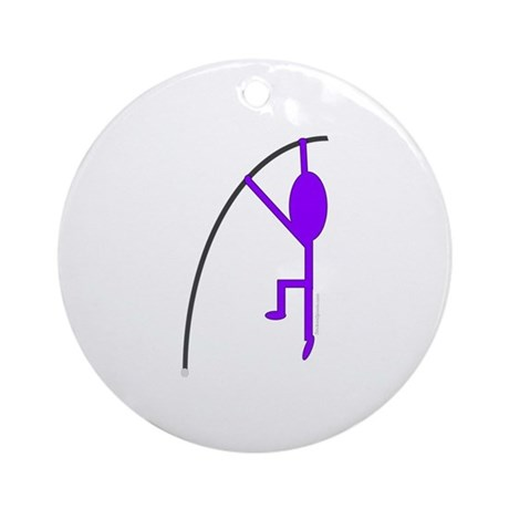 Light Purple Pole Vaulter Ornament (Round)