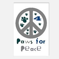 Paws for Peace Grey Postcards (Package of 8)