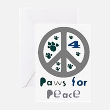 Paws for Peace Grey Greeting Cards (Pk of 10)