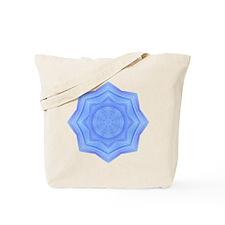 Sacred Blue Lotus Mandala Tote Bag