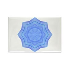 Sacred Blue Lotus Mandala Rectangle Magnet