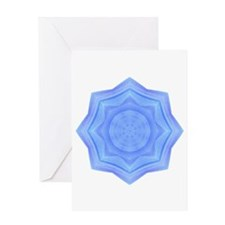 Sacred Blue Lotus Mandala Greeting Card