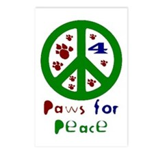 Paws For Peace Green Postcards (Package of 8)