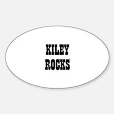 KILEY ROCKS Oval Decal