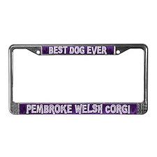 Corgi Best Dog Ever License Plate Frame