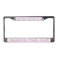 Devoted Owner of a Corgi License Plate Frame