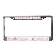 Devoted Corgi Owner License Plate Frame