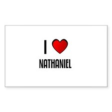 I LOVE NATHANIEL Rectangle Decal