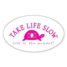TLS Pink Turtle, Oval Decal