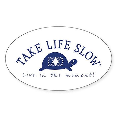 TLS Navy Turtle, Oval Sticker