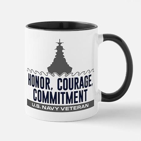 Navy Honor Courage Commitment Mug Mug